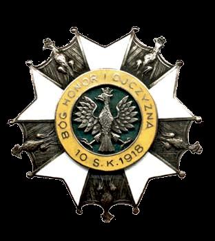 Odznaka 10 Pułku Strzelców Konnych